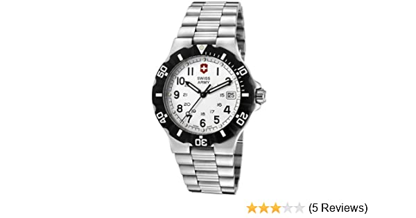 Amazon.com: Victorinox Swiss Army Mens Classic Swiss Quartz Stainless Steel Casual Watch, Color:Silver-Toned (Model: 24004): Victorinox: Watches