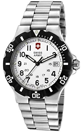 Victorinox Swiss Army Mens Classic Swiss Quartz Stainless Steel Casual Watch, Color: