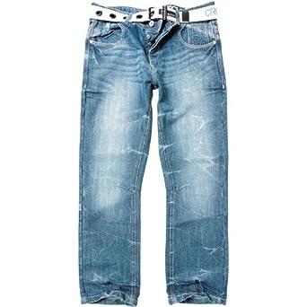 9467a297bd6 CrossHatch Mens Hornet Jeans Stonewash - 30x30: Amazon.co.uk: Clothing
