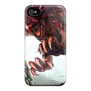 New Dragons Knights Monster Hunter Fantasy Art Rathalos Tpu Case Cover, Anti-scratch Xvg504SMna Phone Case For Iphone 4/4s