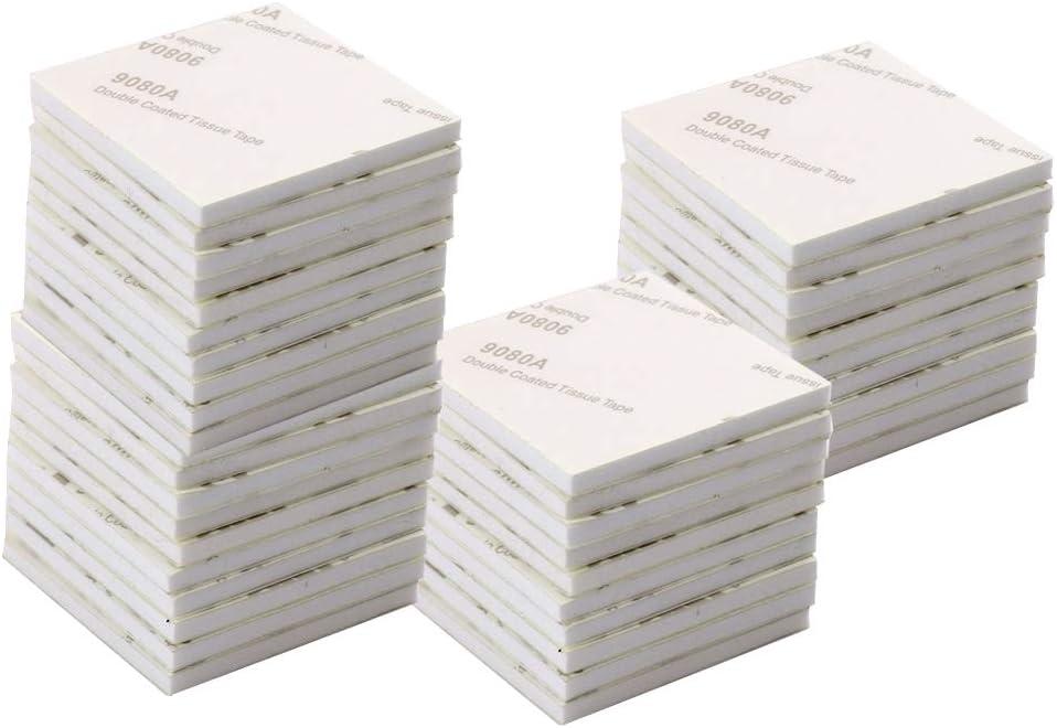 50 pi/èces tampon en mousse adh/ésive double face ruban en mousse blanche 4 cm tampons collants carr/és tampons de montage pour murs