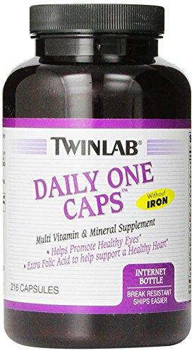 Twinlab Daily One Multi-Vitamin и мульти-минералы капсулы без железа, 216 Граф