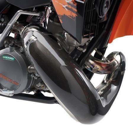 NEW KTM EXHAUST CARBON FIBER PIPE GUARD 200 XC XC-W 2006-2012 U6909867