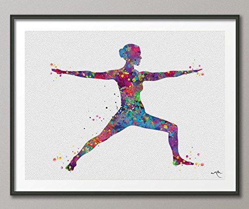 COCOMILLA Yoga Arte, Yoga Warrior Pose, Yoga Poster, Yoga ...