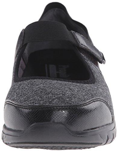 Propét Womens Leona Casual Shoe Black/Silver ZOVPBZXkI