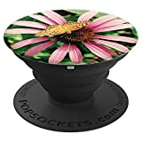 Butterfly on Purple Flower - PopSockets Grip and Stand for Phones and Tablets