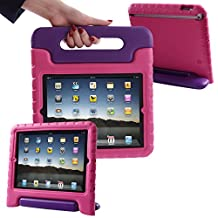 HDE iPad 2 3 4 Case for Kids - Rugged Heavy Duty Drop Proof Children Toy Protective Shockproof Cover Handle Stand for Apple iPad 2 3 4 (Purple Pink)