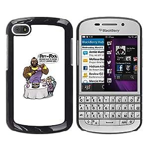 Stuss Case / Funda Carcasa protectora - I Pity The Fool - Mr T - Funny - BlackBerry Q10