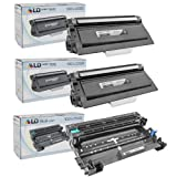LD© Compatible Brother TN720 Toner and DR720 Drum Combo Pack: Includes 2 Black TN720 Laser Toner Cartridge and 1 DR720 Drum Unit for use in Brother DCP 8110DN, 8150DN, 8155DN, HL 5440D, 5450DN, 5470DW, 5470DWT, 6180DW, 6180DWT, MFC 8510DN, 8710DW, 8810DW, 8910DW Printers