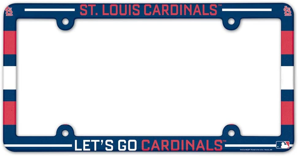 Louis Cardinals LIC Plate Frame Full Color WinCraft MLB St