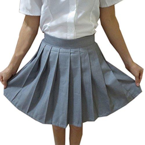 Moda Plisadas Altas Esperas Mujeres Jk Ninas Uniformes Estudiantiles Mujeres Faldas Gris