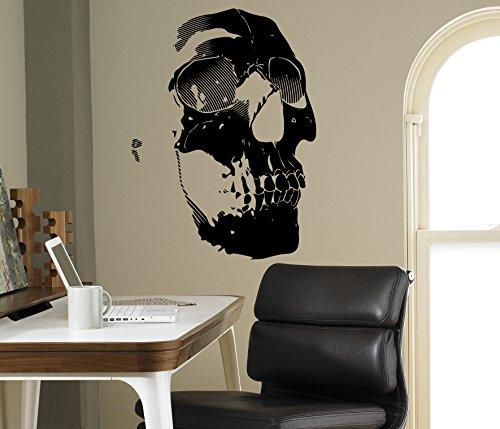 Human Skull Wall Decal Sticker Vinyl Skeleton Home Interior Art Decor Ideas Bedroom Living Room Office Removable Housewares 15(nt)