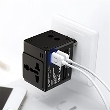 Zyx Enchufe Global De La Conversión Cargador Dual del USB ...