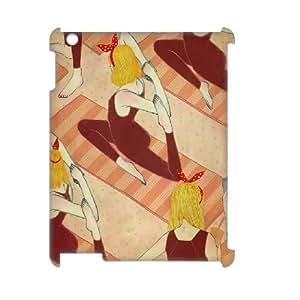 3D iPad 2,3, 4 Cases manufacturaremos Girls, iPad 2,3, 4 Cases Art, [blanco]