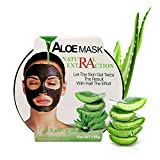 AINATU Aloe Vera Peel Off Facial Mask - Blackhead Removal Gel Sheet Masks for Anti-Aging, Deep Hydration Collagen and Antioxidants Repair Sun Damage Moisture Skin (ALOE MASK)