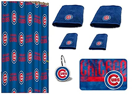 Amazon Com The Northwest Company Mlb Chicago Cubs 18 Piece Bath