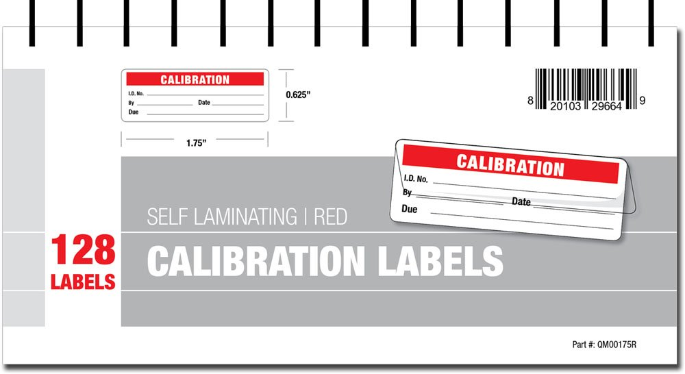 Calibration Labels - Self Laminating with Spiral Bound Cover (Green) QMOL QMOL2344