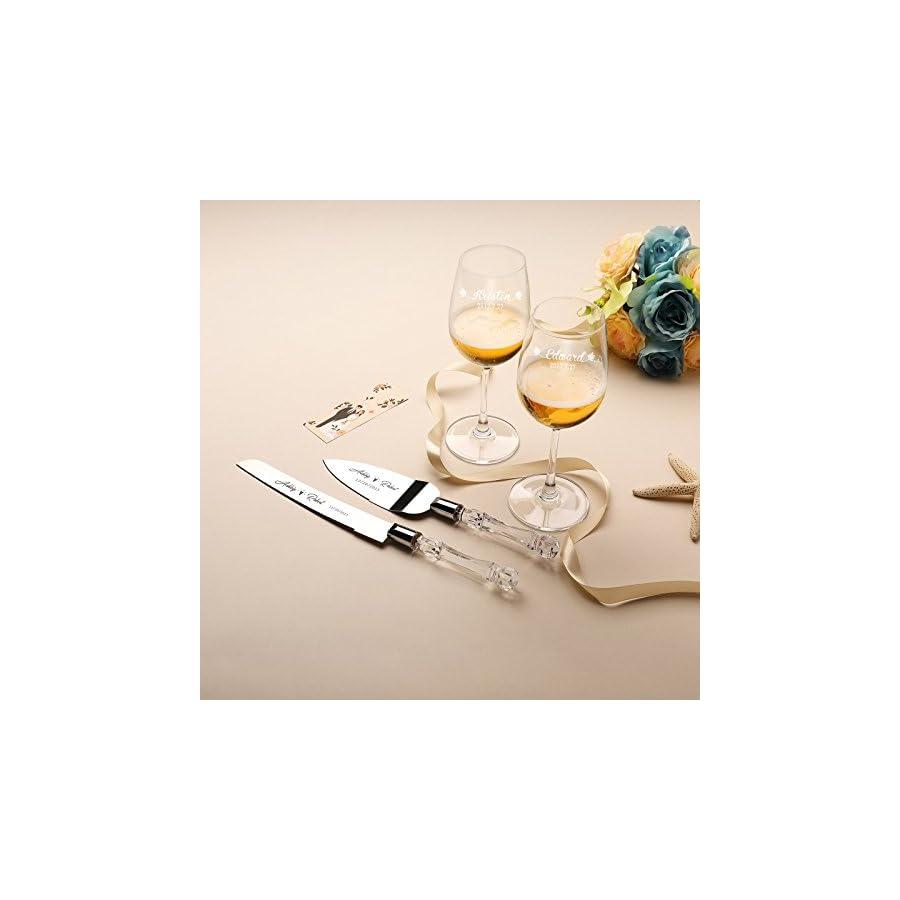 AW Wedding Cake Knife and Server Set Cake Knife 13.2 Inch, Cake Server 10.8 Inch Gift for Wedding, Anniversary, Engagement, Birthday