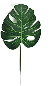 VORCOOL Tropical Leaves Artificial Palm Leaf for Hawaiian Luau Theme Party Decorations Home Garden Table Decoration 10pcs - L