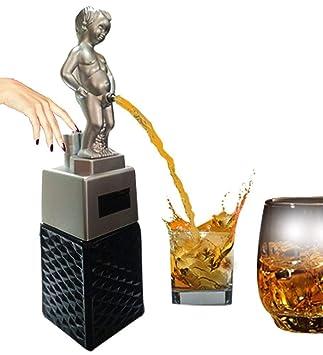 barraid Bonny Boy Plata dispensador de licor Squre Negro Capacidad 500 ml