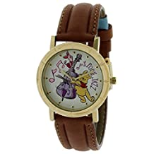 Unisex Rare Out Of Production Disney Musical Disney Winnie The Pooh and Friends Watch in Attractive Gold Tone Case