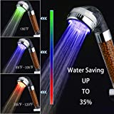 LED Shower Head Handheld, High-Pressure Water Temperature Controlled - Best Reviews Guide