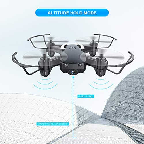 Drone avec caméra 720P, EACHINE-E61HW Drone en Poche radiocommandé, Drone pour débutant Facile à diriger