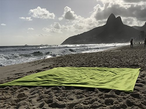 Monster Towel The Worlds Biggest Towel. Big Beach Towel Microfiber Oversized Large Huge Beach Towel(Lime Greeen) by Monster Towel (Image #1)