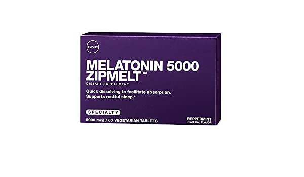 Amazon.com: GNC Melatonin 5000 Zipmelt, 60 veg. tabs: Health & Personal Care
