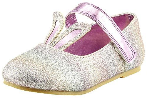 The Doll Maker Easter Bunny Flat Shoe-FBA181012E-10 (Girls Easter Shoes)