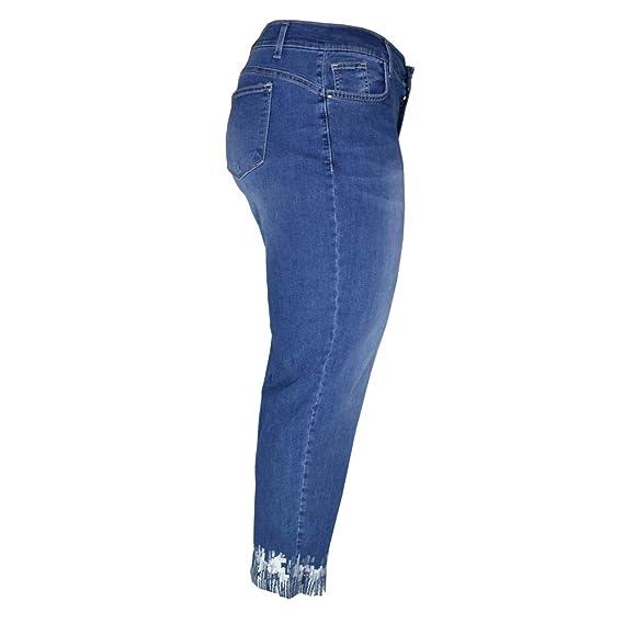 KEYRA - Pantalones Vaqueros de Talla Grande para Mujer ...