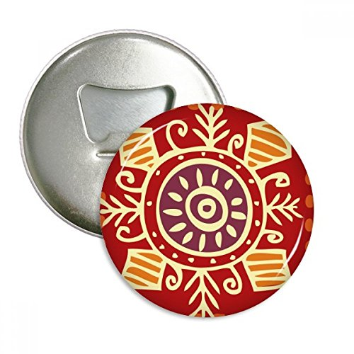 - Red Eyes Mexico Totems Ancient Civilization Round Bottle Opener Refrigerator Magnet Pins Badge Button Gift 3pcs