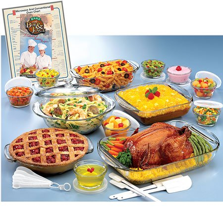 Anchor Hocking 34 Piece Expressions Ovenware -