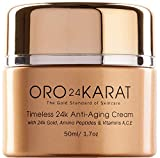 24K Anti-Aging Cream Anti-Wrinkle Reduce Fine Lines Refreshing Minimize Age Spots Rich with Vitamins, Hyaluronic Acid, Retinol, and Made with 24k Gold Made in the USA (1.7oz)