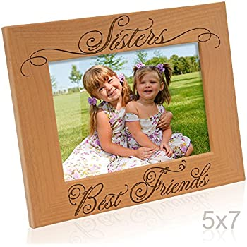 kate posh sisters and best friends picture frame 5x7 horizontal