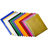 """12"""" x 10"""" Heat Transfer Vinyl Sheets (14 Pack), Includes 2 Glitter and 2 Neon Sheets, For T-Shirts, Hats, Clothing, Iron-On PU HTV Vinyl Bundle for Silhouette Cameo, Cricut, Heat Press Machines"""