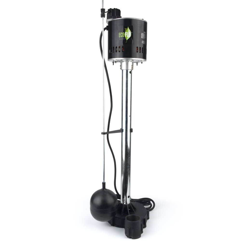 ECO-FLO Products EPC50 Pedestal Sump Pump with Vertical Float Switch, 1/2 HP, 5,000 GPH