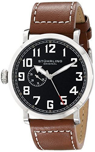 - Stuhrling Original Men's 721.01 Monterey Quartz Seconds Subdial Brown Watch