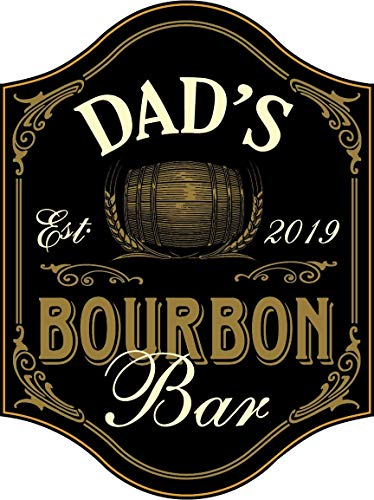 - THOUSAND OAKS BARREL Dad's Bourbon Bar Wood Sign for Man Caves, Garages, or Home Bars