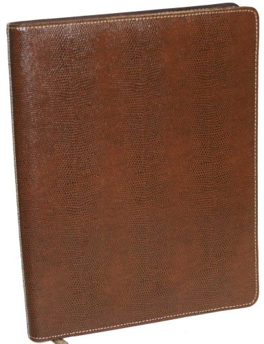 (New Simulated Snake Leather Brown Writing Case Padfolio)