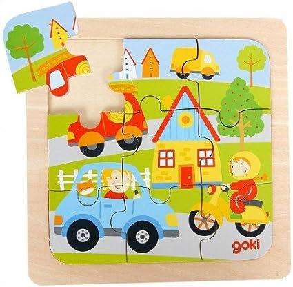 Puzzle en bois Les Véhicules Transports 9 pièces Puzzle