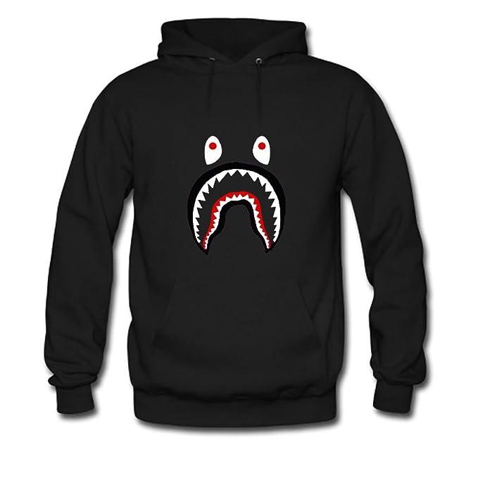 a454a38e6017 Bape Shark Pullover Hooded Sweatshirt Men hoodies  Amazon.ca  Sports    Outdoors
