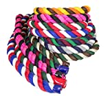 Ravenox Colorful Twisted Cotton Rope | Made in The USA | Custom Color Triple-Strand Rope and Cordage for Sport, Décor, Pet Toys, Crafts, Macramé and Indoor Outdoor Use | by The Foot and Diameter
