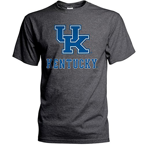 Elite Fan Shop NCAA Kentucky Wildcats Mens NCAA T Shirt Dark Heather ArchNCAA T Shirt Dark Heather Arch, Dark Heather, X Large -