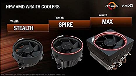 Amazon Com Amd Wraith Stealth Socket Am4 4 Pin Connector Cpu Cooler With Aluminum Heatsink 3 93 Inch Fan Slim Electronics