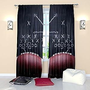 Amazon.com: Soccer Window Curtains Ball Sports Themed ...
