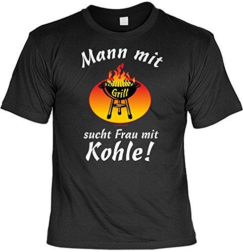 Witziges Grill Fun-Tshirt - Tolles Geschenk - Griller Set Goodman Design® auch in Übergrößen Gr: 4XL Farbe: schwarz