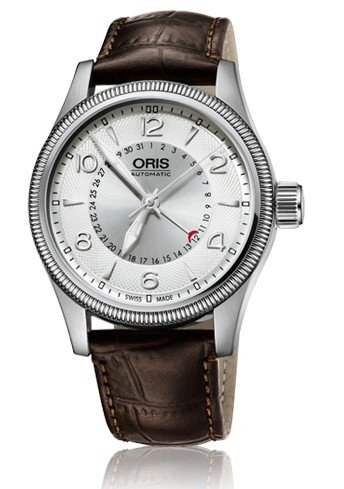 Oris Big Crown Pointer Date Silver Dial Black Leather Mens Watch 01 754 7679 4061-07 5 20 76FC