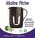 1 Alkaline Water Filter/Jug Pitcher (Black) turns ordinary water into alkaline and ionized water.