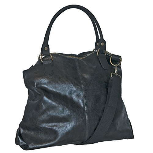 In Sac Italy Femme Lisa Noir En Vintage Cuir Made Borderline 100 Style awfHqqB